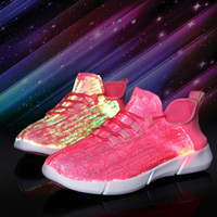 Wholesale night lights for running resale online - kids shoes Size Summer Led Fiber Optic sneaker for girls boys menns womenns USB Recharge glowing Sneakers light up in night shoes