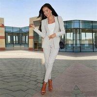frauen tuxedos großhandel-Hose der Art und Weise elegante Frauen passt Damenhosenanzug formale weibliche Anzug Blazerhosen-Womens Smoking der Maßanzug nach Maß an