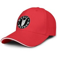 sandviç modası toptan satış-Müzik MAYhem kırmızı adam sandviç şapka beyzbol tasarım fit özel şapka serin retro özel kap moda orijinal sandviç şapka