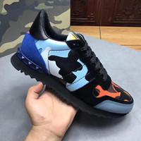 botas camufladas venda por atacado-Sapatos de grife Triplo Speed Trainer Botas Casuais Thick Heel Stretch-Knit designer sneaker Sapatos Casuais Mulher com Camuflagem Rockrunner