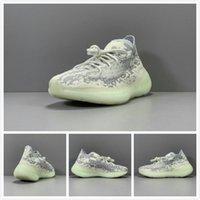 erkekler beyaz ayakkabı moda toptan satış-Ayakkabı Koşu Kanye 380 V3 Sitrin yabancı Siyah Beyaz Uzaylı Yeşil Sarı Pembe Sneaker Erkekler Kadınlar Moda