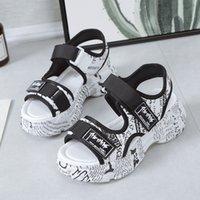 anti-rutsch-high heels großhandel-Heißen Verkauf-neue Frauen-Sandalen Schuhe Frauen Plattform-Keil-hohe Absätze Anti-Rutsch-beiläufiger Gladiator zu Fuß Sandalen Schuhe Flip Flops 180