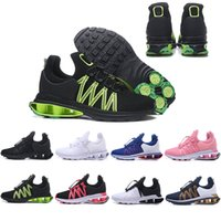 Wholesale fashion shox online - 2019 Shox Deliver Men Women Running Shoes Muticolor Fashion Black Green Blue Pink White DELIVER OZ NZ Athletic Sports Sneakers