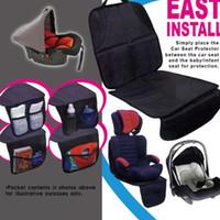 matte für babysitz großhandel-Baby Kind Autositz Schutzgurte Schonbezug Matte Einfach Sauber Schutzfolie Clip Auto Sicherheit Rutschfeste Kissen Harness Pads