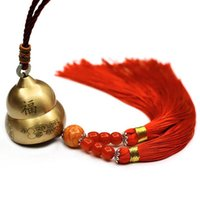 Wholesale chinese hanging decor for sale - Group buy Traditional Chinese Feng Shui Copper Bell Blessing Good Luck Wind Bell Hanging Wind Chimes Home Decor Car Hanging Craft