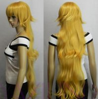 ingrosso capelli lunghi strati parrucche-Parrucca giapponese WBY Long Wavy Layered Fiber Hair Cosplay