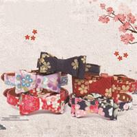 zugverbindungen groihandel-Katze Kragen Mulitcolor gedruckt Kirsche Blumenmuster Vergoldung Fliege Hundehalsband Trainingsgeräte kleine Heimtierbedarf 3 53amg E1