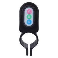 kullanım kılavuzu toptan satış-Bisiklet Bisiklet 110dB Hareket Sensörü Anti Hırsızlık Güvenlik Alarm Uyarıcı Kilit Renk Siyah Uydurma İngilizce kullanım kılavuzu