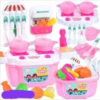 ingrosso colori misti-Bambini Cucina piccola Cucina Casa giocattolo Finta Play Bambini Colori Mix Mini Suit Funny 5 2yh F1
