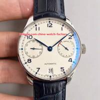 observa portugues venda por atacado-7 Estilo Melhor Qualidade Relógio Top Fábrica 42.3mm Português 7 Dias de Reserva de Energia IW500705 Swiss CAL.51111 Movimento Automático Mens Relógios