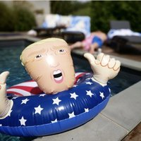 Wholesale fun swimming rings resale online - Trump Swim Ring Inflatable Floats cm Giant Thicken Summer Fun Inflatable Sofa Beach Play Water Pools Float Seat GGA1961