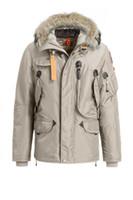 mens su geçirmez ceketler toptan satış-2019 Parajumpers Parkas yeni kalın, sıcak ve rüzgar geçirmez su geçirmez uzun bölüm ince düz renk kaz tüyü ceket sağ kış Aşağı mens