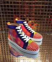 freizeitschuhe für hochzeit großhandel-Limit Sneakers Red Bottom Spiked Schuhe für Herren Damen Schuhe Print Gold Pik Pik Studs Graffiti Marke Schuhe Luxus Kleid Hochzeit Casual Sho