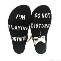 chaussettes en coton achat en gros de-Vêtements pour hommes Lettres de mode Chaussettes Ne me dérangez pas Drôle Chaussettes Hommes Vente chaude Coton Chaussette Pantoufles