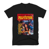 pôsteres mulheres venda por atacado-Pulp Fiction Mia Wallace Cartaz dos homens / mulheres T Shirt terno chapéu rosa t-shirt RETRO VINTAGE Clássico t-shirt
