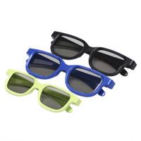 3d bardak siyah toptan satış-5 adet Dairesel Polarize Pasif 3D Stereo Gözlük Siyah 3D TV Için Gerçek D IMAX Sinemalar