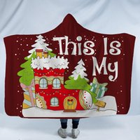 Wholesale towel textiles for sale - Group buy Christmas Hooded Blanket Adults Childs D Printed Plush Sherpa Fleece Blankets Throw Cloak Capes Warm Soft Towel Home Textiles GGA2588