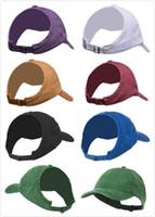 00dc58eb Wholesale hair visors online - 2019 Women s ponytail baseball cap Half  empty top Visor Messy