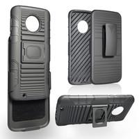 Wholesale g4 cars online - Hybrid Kickstand Ring Holder Car Magnetic Rugged Case for Motorola Moto C Z2 Force Z3 Play X4 E4 G5 G4 Cover Belt Clip
