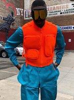 çok fermuarlık kazak toptan satış-Paris Lüks Sonbahar kış Kamp Yürüyüş çoklu cep taktik fermuar yelek kazak Açık spor giyim Avcılık Yelek