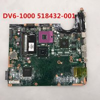 dv6 intel al por mayor-Alta calidad para DV6 DV6-1000 DV6T placa madre del ordenador portátil 518432-001 Intel P45 DDR3 100% probado completo