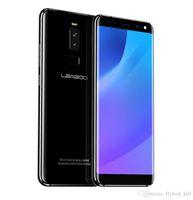 leagoo phone al por mayor-LEAGOO S8 5.72 Pulgadas 18: 9 Pantalla Android 7.0 MTK6750T Octa Core Smartphone 3GB RAM 32GB 13MP 4 Cámaras Huellas dactilares Teléfono 4G