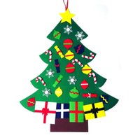 Wholesale fashion wall hanging for sale - Group buy DIY Christmas Tree Fashion Felt with Decorations Door Wall Hanging Kids Educational Gift Xmas Tress about cm LXL407A
