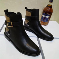 Wholesale kitten paintings for sale - Group buy Hot Sale Women Motorcycle Boots Match Color Brand Buckle Boots Ladies Autumn Genuine Leather Shoes European High Quality Booties