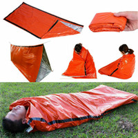 Wholesale travel accessories online - Outdoor Sleeping Bags Portable Emergency Sleeping Bags Light weight Polyethylene Sleeping Bag for Camping Travel Hiking MMA1883