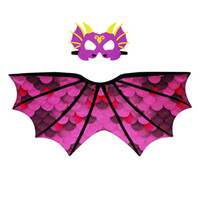 padrão de asas venda por atacado-Padrão de dinossauro Manto Máscara Pterossauro Asa Manto Capa Chiffon Material de Alta Qualidade Multicolor Hot Vendas 24 9dj C1