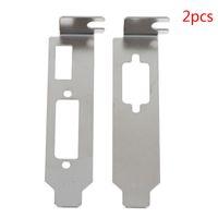 niedrige klammer großhandel-2 teile / satz Low Profile Bracket Adapter HDMI DVI Port Für Half Height Graphic Video Card Set