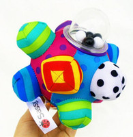 bebek oyuncakları 12 ay toptan satış-Sassy Gelişim Bumpy Topu Yumuşak Bez Bebek Tulumları El Çıngıraklar Çan Öğrenme Eğitim Eğitim Kavrama Öğrenme Oyuncak 0-12 Ay Için