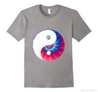 ingrosso cravatte cinesi-Tie Dye Yin Yang T-Shirt Simbolo cinese scuro e luminoso