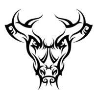 pegatina cabeza de toro al por mayor-13.5cm * 12.5cm Tatuaje tribal Bull cabeza del coche de peinado con etiquetas engomadas de Negro / Plata S3-5228