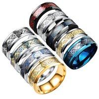 ingrosso drago americano-Commercio all'ingrosso di anelli da uomo in acciaio inox personalizzati con esplosioni di drago in acciaio inossidabile ed europeo