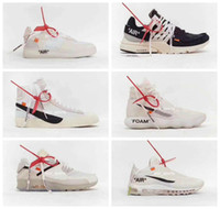 Wholesale 2018 OFF Running Shoes The Ten Mid blazer Chaussures Zoom Fly SP React Hyperdunk HDs White Air mens Womens Sneakers