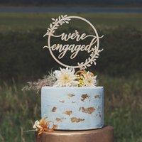 adorno de madera al por mayor-Personalizar Cake Topper Flowers - Birthday Cake Topper - Madera Rústica