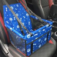 alfombrillas eco amigable al por mayor-Asiento de coche perro mascota Portadores cubierta del bolso de la estera combinada del cinturón de seguridad Mat protector de transporte para perros D1396 transportin perro