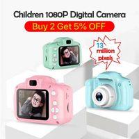 camara de video rosa al por mayor-2020 Cámara vendedora caliente de la cámara Niños Niños Digital Mini Cam linda de 8MP cámara SLR Juguetes para regalo de cumpleaños de 2 pulgadas