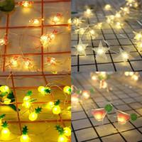 Wholesale pizza lights resale online - Christmas Decorative String Lights M Cat Pizza Watermelon Santa Claus Fairy Garland Holiday Wedding Decoration