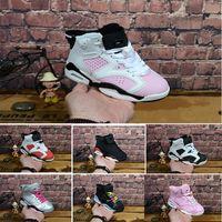 ingrosso scarpe da basket scontate per bambini-Nike air max jordan 6 retro sconto all'ingrosso Kids 6 bambino Scarpe da basket unc oro nero rosso bambino 6s Scarpe da ginnastica per bambini Bambini Sport scarpe da ginnastica basse taglia 28-35