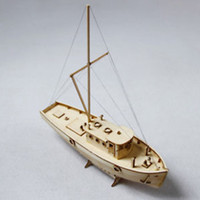 Wholesale diy model ship kit for sale - Group buy Wooden Sailing Boat Building Kits Ship Model Wooden Sailboat Toys Harvey Sailing Model Assembled Wooden Kit DIY Decoration Toy Y190530
