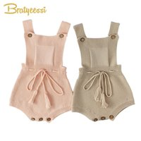 Wholesale overall for toddlers boy resale online - New Princess Baby Rompers With Tassels Knitted Toddler Jumpsuit Sleeveless Solid Infant Overall Onesie For Baby Girl Clothes pc Y19061201