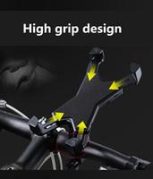 подставка для iphone для велосипедов оптовых-Универсальный велосипед держатель мобильного телефона для iPhone X мотоцикл велосипед руль стенд кронштейн для Samsung для Xiaomi mi8