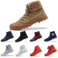 top casual de lona de los hombres al por mayor-2019 Trendy OG Ultra Palladium High Top Casual Shoes Mens mujeres tobillo de lujo botas deportivas diseñador hombres zapatillas de deporte entrenadores zapatos de lona 36-45