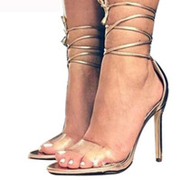 Wholesale pump lace up booties for sale - Group buy New Lace Up Gladiator Sandals Women Platforms Stiletto High Heels Strappy Sexy Cut Out Booties Woman Sandals Pumps cm