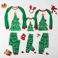 Wholesale father son clothing sets for sale - Group buy Sfit Family Christmas Trees Pajama Family Matching Clothes Mother Daughter Clothes Father Son New Year Look Xmas Sets