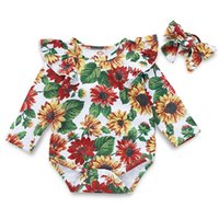Wholesale comfortable baby girl clothes for sale - Group buy Rompers Printing Long Sleeves European Style Kids Clothes Girls Newborn Baby Girl Clothes Comfortable Breathable