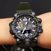 relojes digitales led al aire libre al por mayor-Inicio de lujo diseñador reloj de los hombres del deporte al aire Militar digital LED relojes G Estilo de choque de los relojes caja original para la hembra Reloj Estudiante