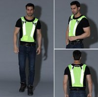Wholesale tank top cycling for sale - Group buy Fashion Night Fluorescent High Visibility Reflective Safety Vest Adjustable Camisole Cycling Vests Running Working Vest CCA10930